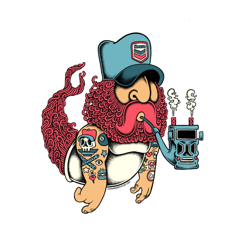 Trucker Mermaid Men's T-Shirt by cphposter's Artist Shop
