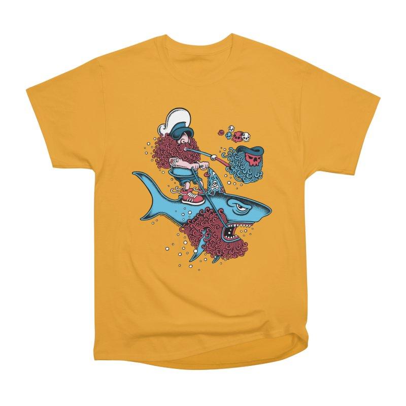 Shark Sailor Men's Heavyweight T-Shirt by cphposter's Artist Shop