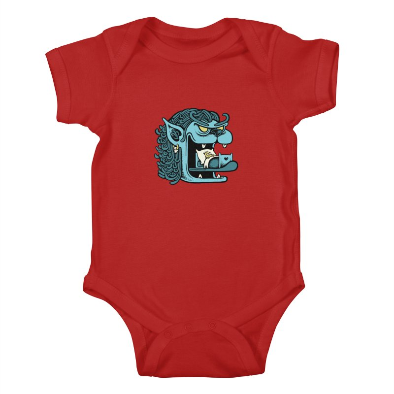 Good night Kids Baby Bodysuit by cphposter's Artist Shop