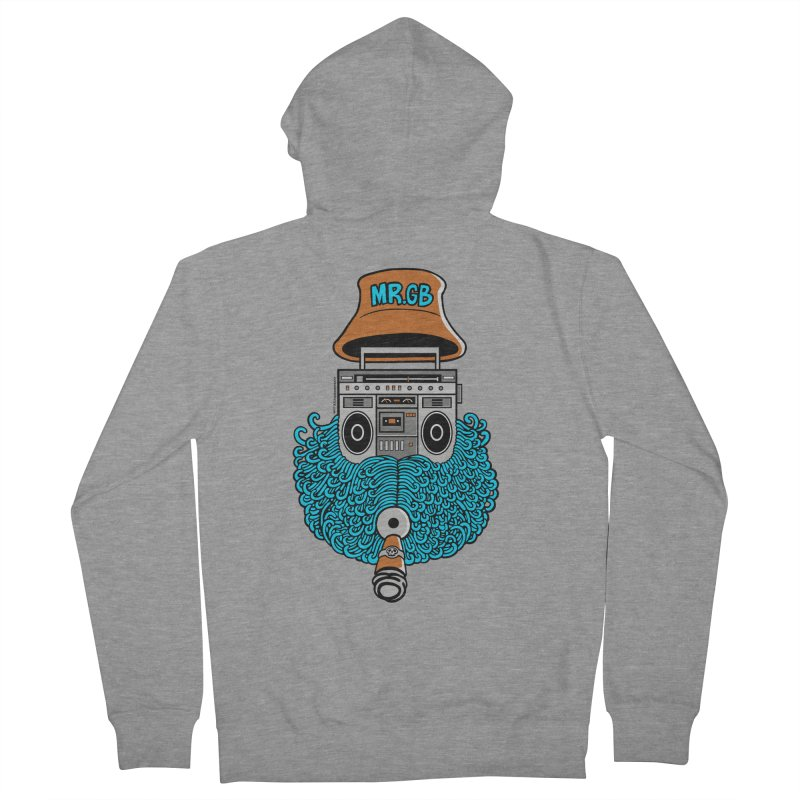 Mr. Ghetto Blaster Women's Zip-Up Hoody by cphposter's Artist Shop