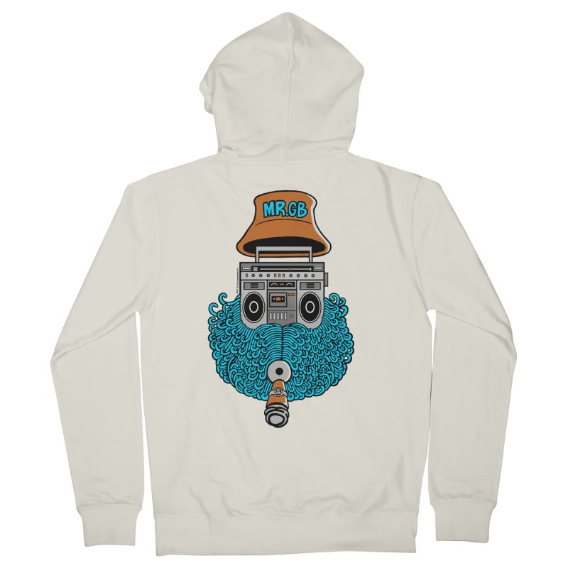 Mr. Ghetto Blaster Men's Zip-Up Hoody by cphposter's Artist Shop