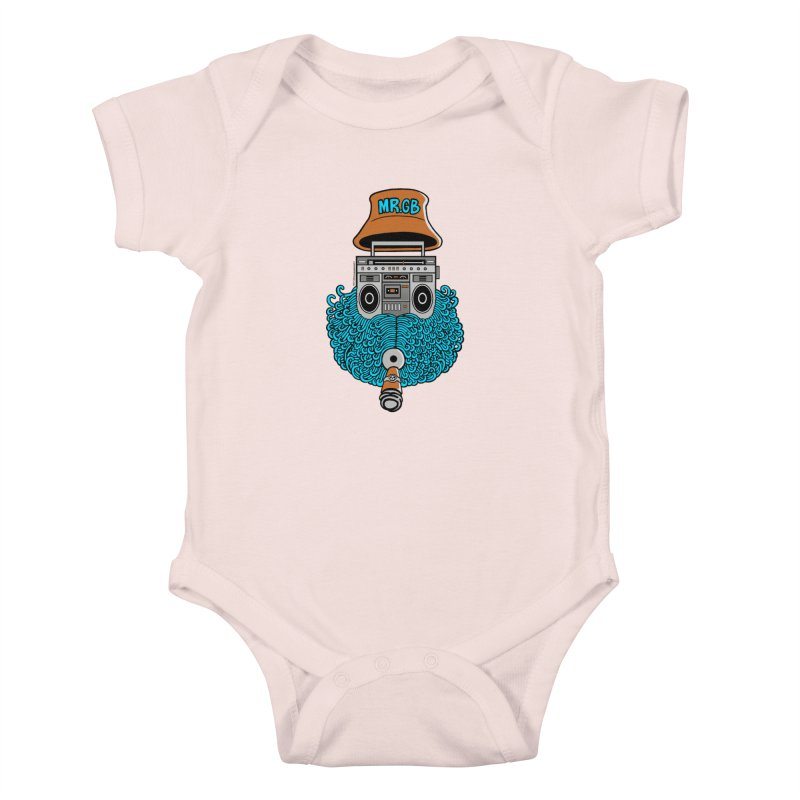 Mr. Ghetto Blaster Kids Baby Bodysuit by cphposter's Artist Shop