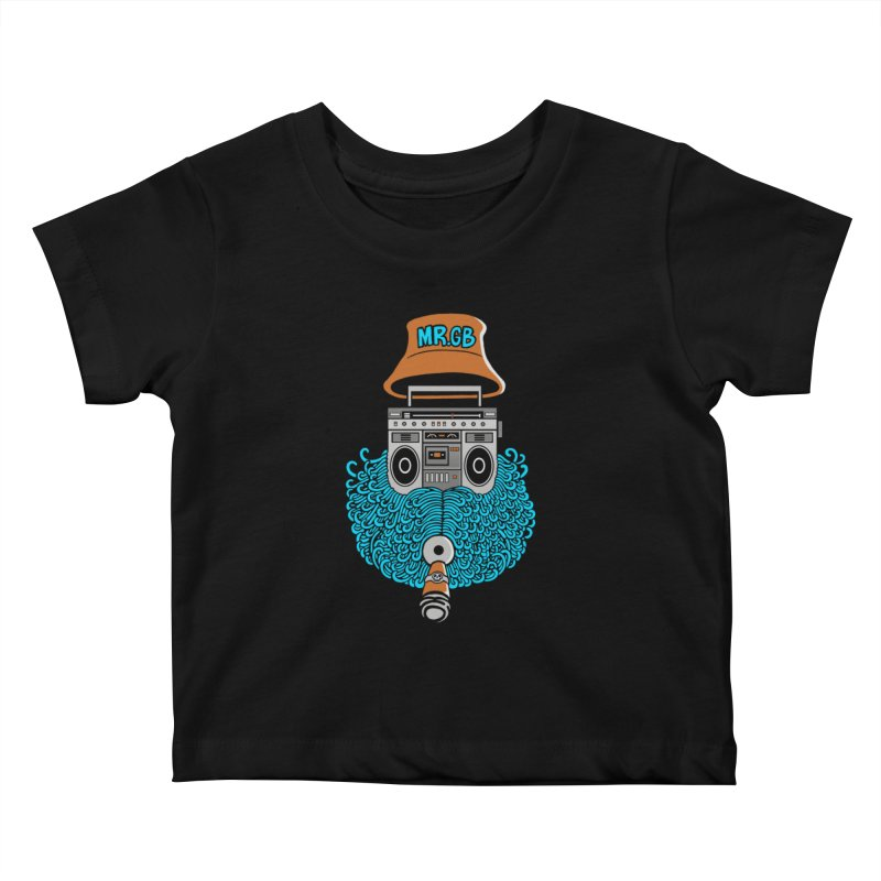 Mr. Ghetto Blaster Kids Baby T-Shirt by cphposter's Artist Shop