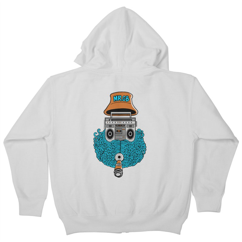 Mr. Ghetto Blaster Kids Zip-Up Hoody by cphposter's Artist Shop