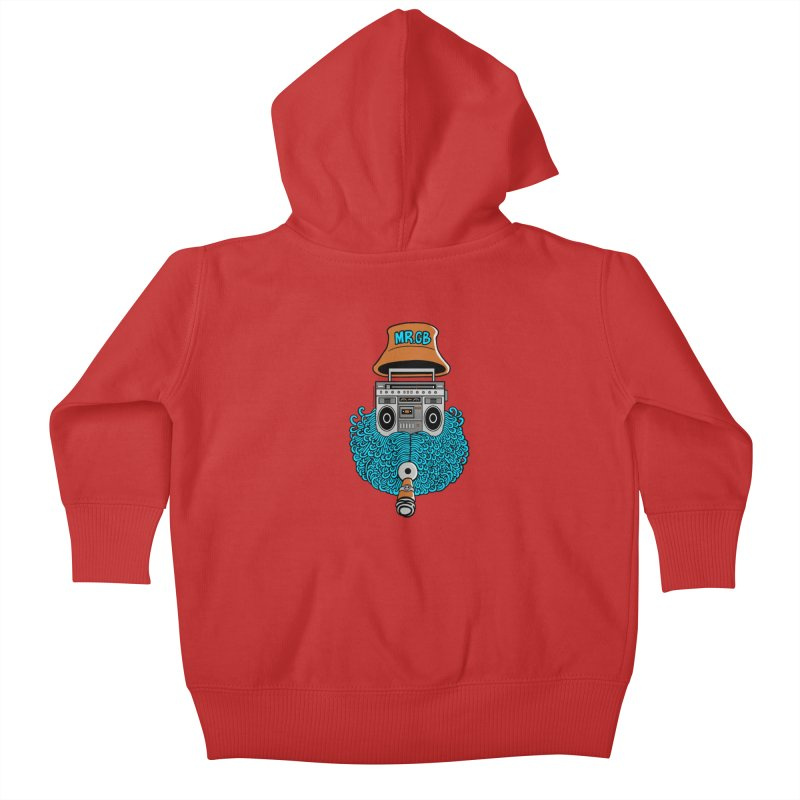 Mr. Ghetto Blaster Kids Baby Zip-Up Hoody by cphposter's Artist Shop