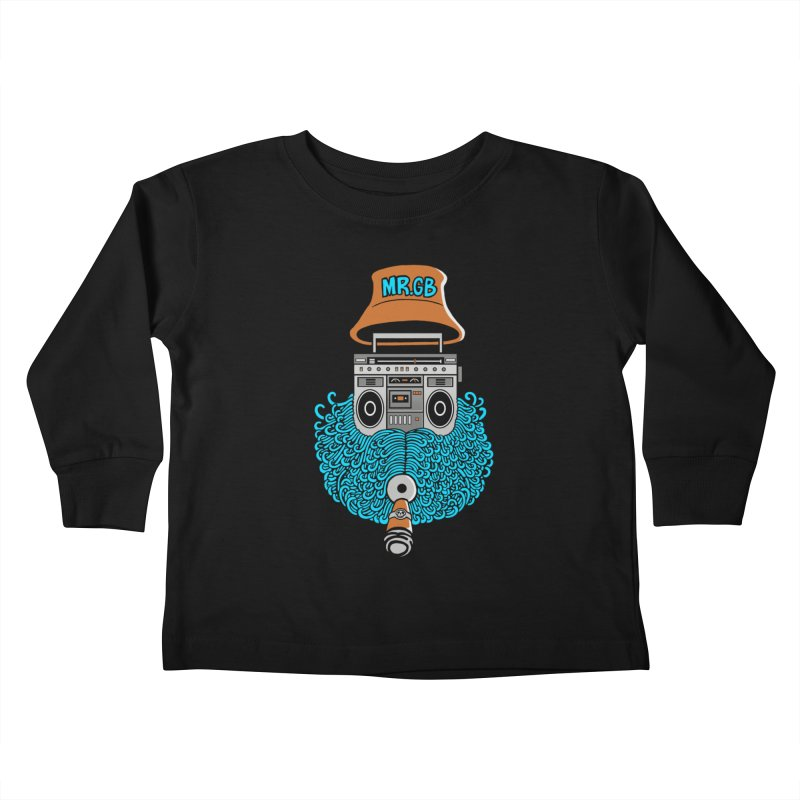 Mr. Ghetto Blaster Kids Toddler Longsleeve T-Shirt by cphposter's Artist Shop