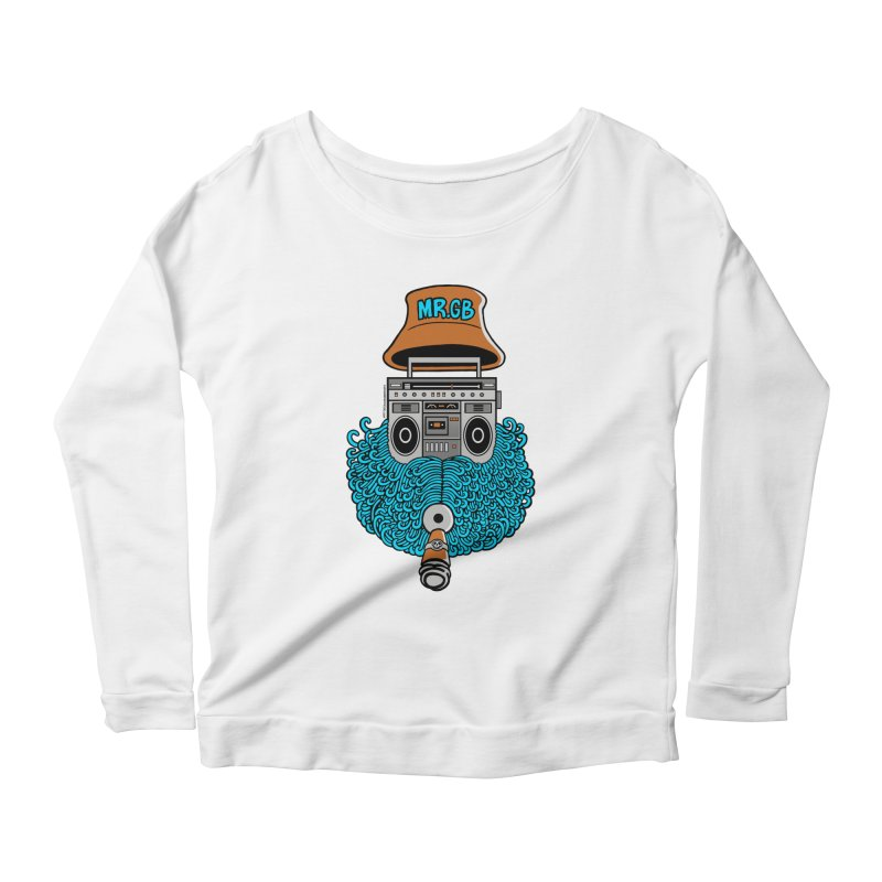 Mr. Ghetto Blaster Women's Longsleeve Scoopneck  by cphposter's Artist Shop