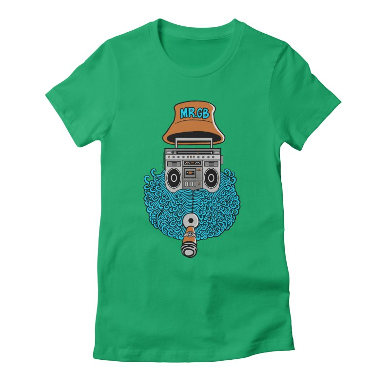 Mr. Ghetto Blaster Women's Fitted T-Shirt by cphposter's Artist Shop