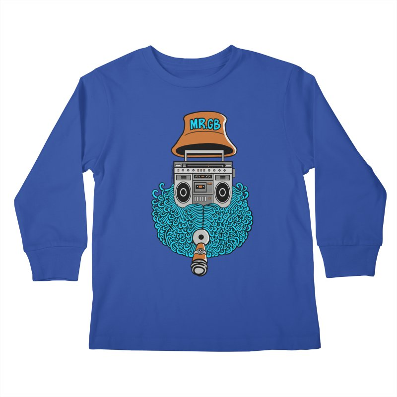 Mr. Ghetto Blaster Kids Longsleeve T-Shirt by cphposter's Artist Shop