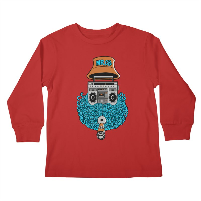 Mr. Ghetto Blaster Kids Longsleeve T-Shirt by cphposter's Artist Shop