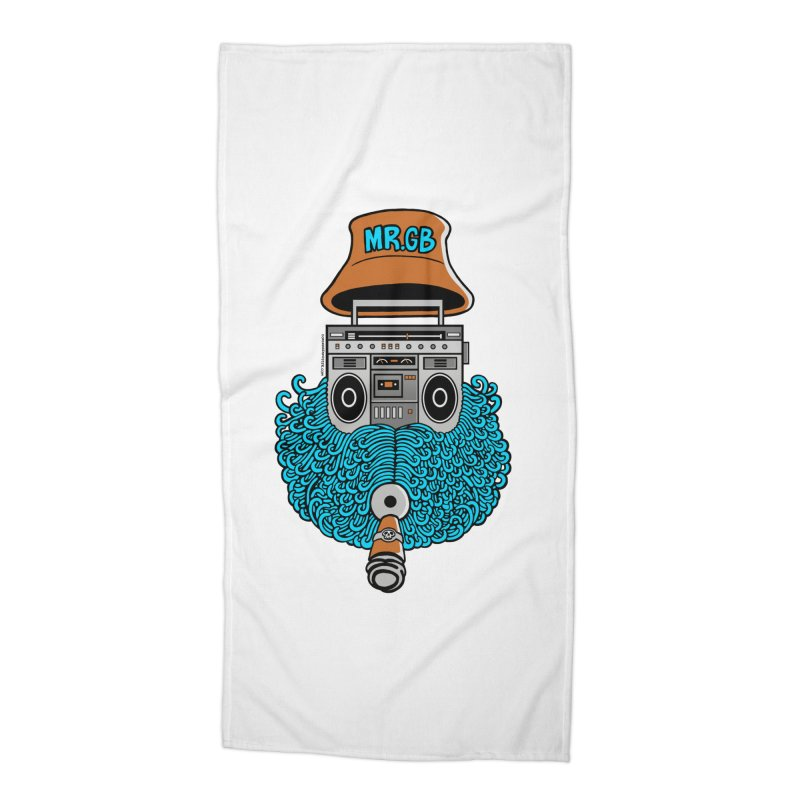 Mr. Ghetto Blaster Accessories Beach Towel by cphposter's Artist Shop