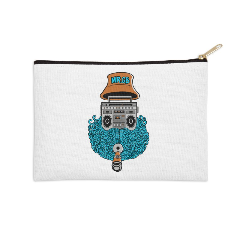 Mr. Ghetto Blaster Accessories Zip Pouch by cphposter's Artist Shop