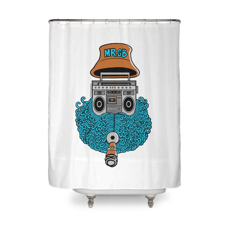 Mr. Ghetto Blaster Home Shower Curtain by cphposter's Artist Shop
