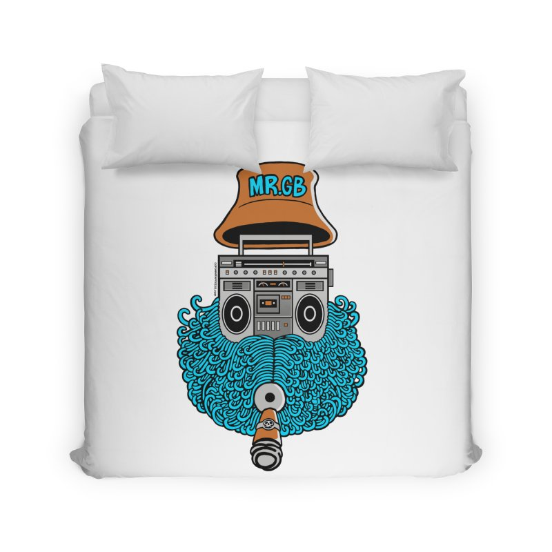 Mr. Ghetto Blaster Home Duvet by cphposter's Artist Shop