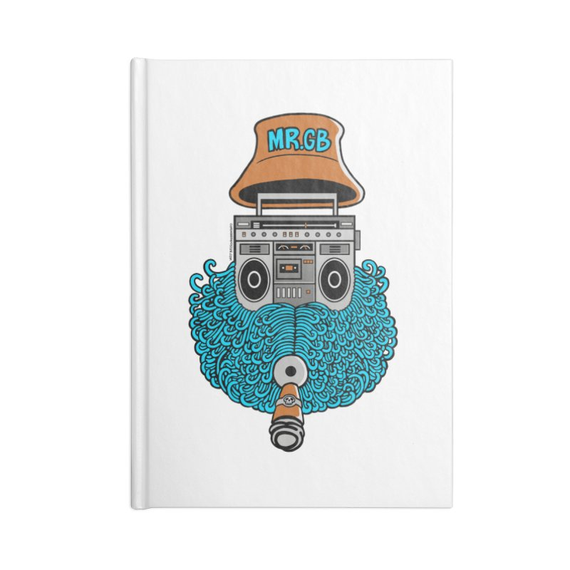 Mr. Ghetto Blaster Accessories Notebook by cphposter's Artist Shop