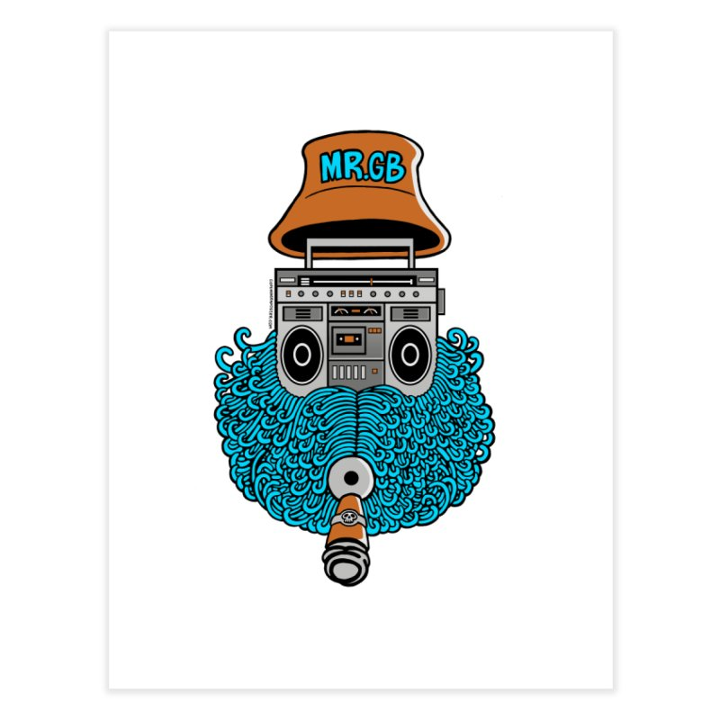 Mr. Ghetto Blaster Home Fine Art Print by cphposter's Artist Shop