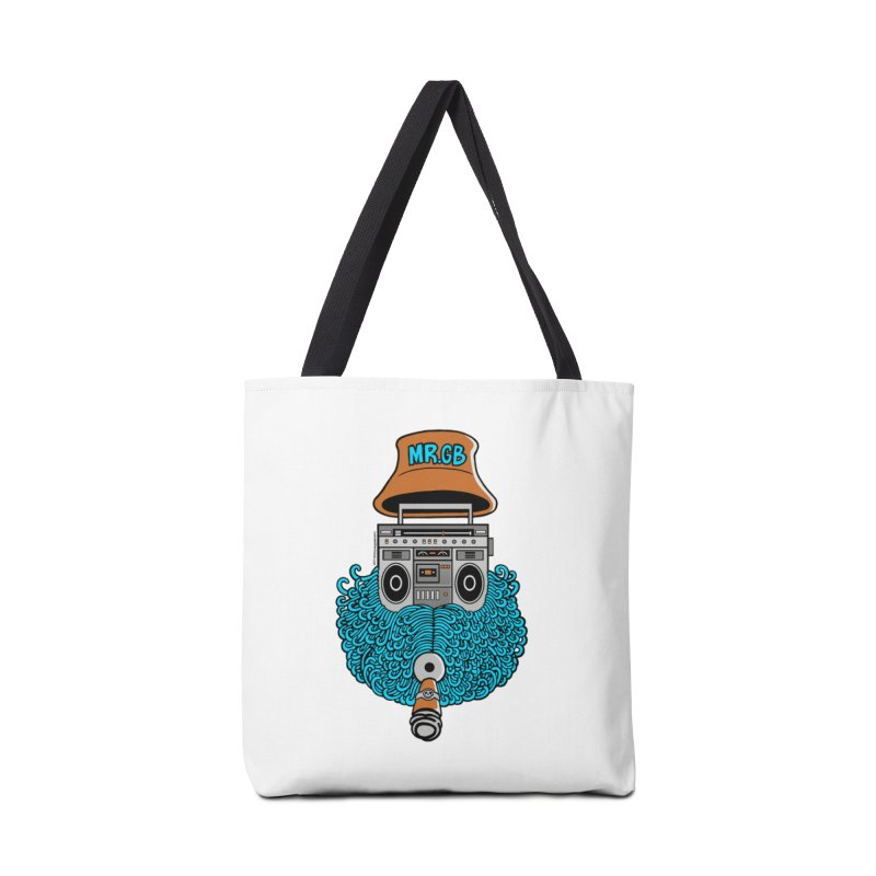 Mr. Ghetto Blaster Accessories Bag by cphposter's Artist Shop