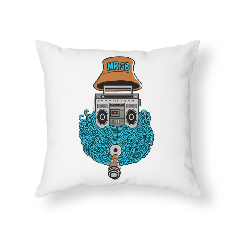 Mr. Ghetto Blaster Home Throw Pillow by cphposter's Artist Shop