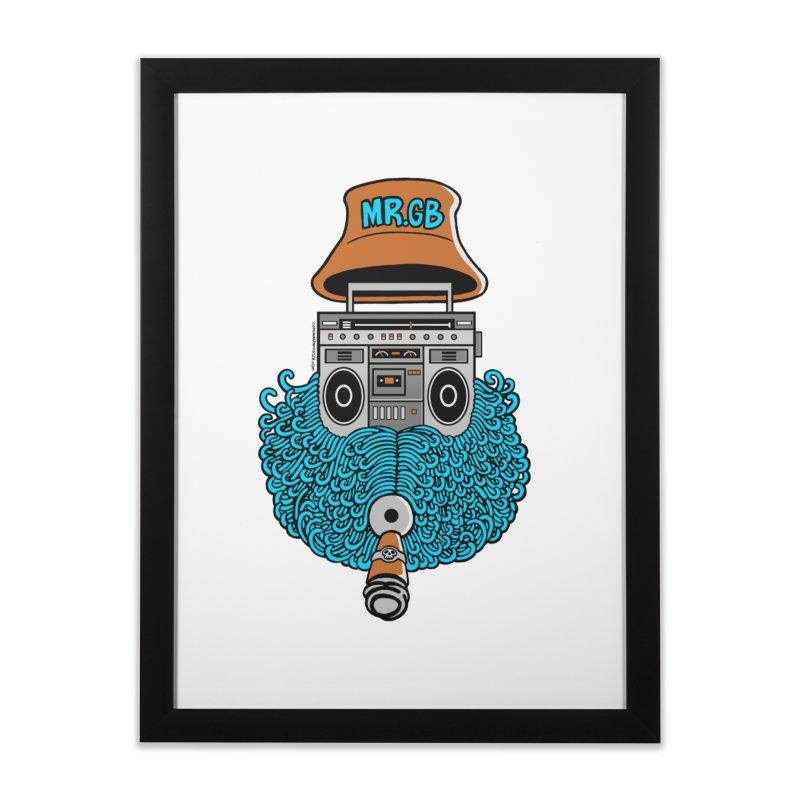 Mr. Ghetto Blaster Home Framed Fine Art Print by cphposter's Artist Shop