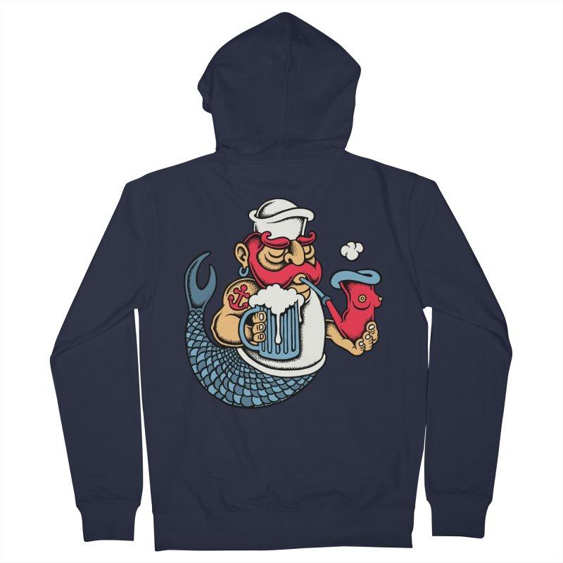 Sailor Mermaid II Men's Zip-Up Hoody by cphposter's Artist Shop