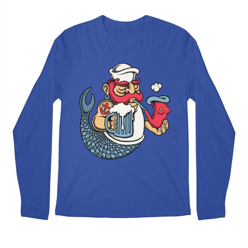 Sailor Mermaid II Men's Longsleeve T-Shirt by cphposter's Artist Shop