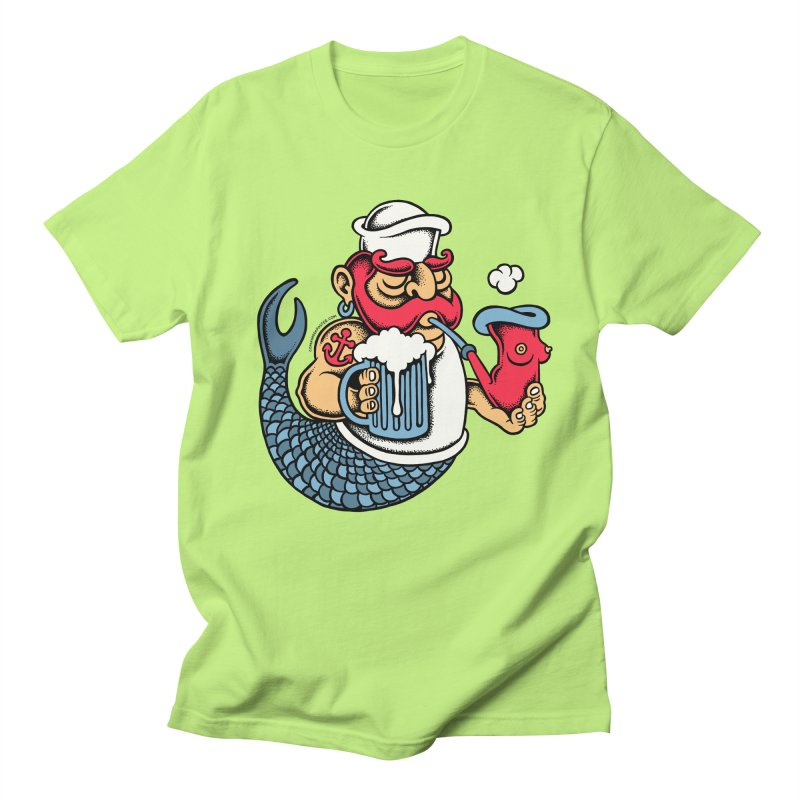 Sailor Mermaid II Men's T-Shirt by cphposter's Artist Shop