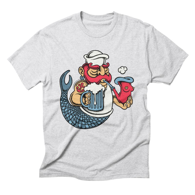 Sailor Mermaid II Men's Triblend T-Shirt by cphposter's Artist Shop