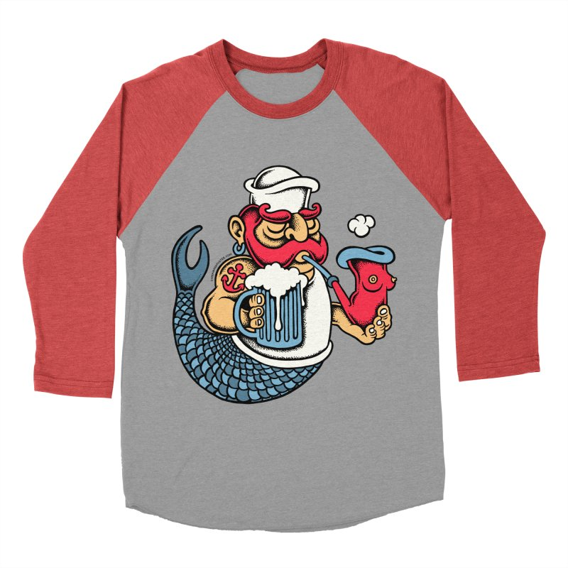 Sailor Mermaid II Men's Baseball Triblend T-Shirt by cphposter's Artist Shop