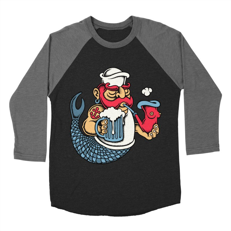 Sailor Mermaid II Men's Baseball Triblend T-Shirt by cphposter's Artist Shop