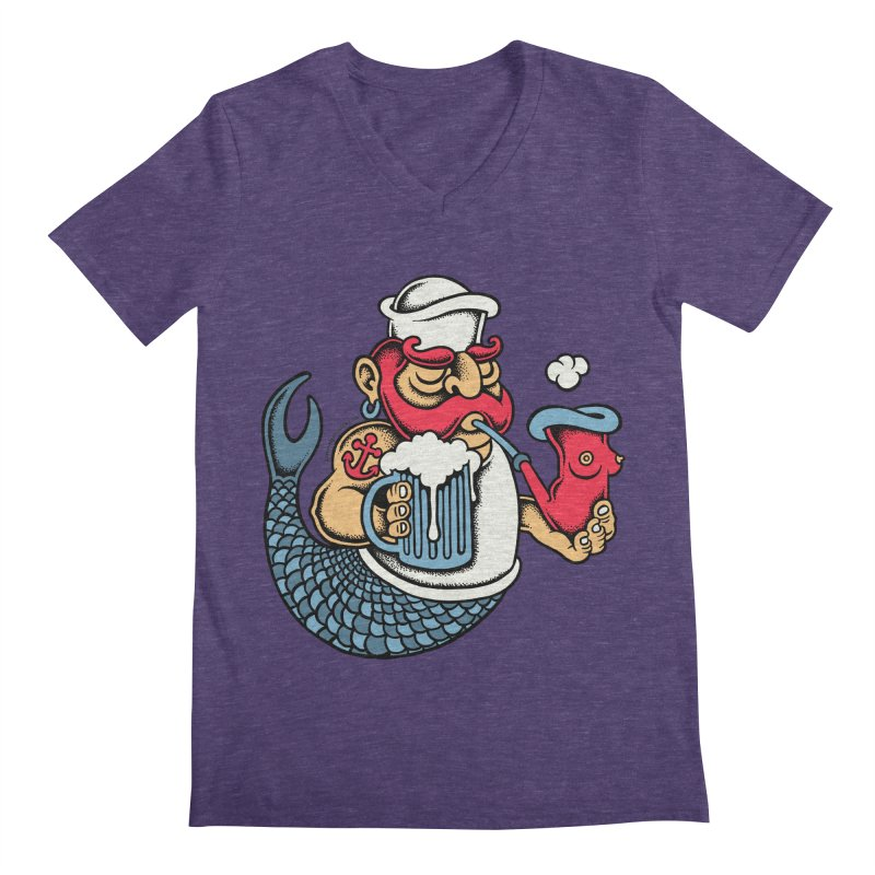 Sailor Mermaid II Men's V-Neck by cphposter's Artist Shop