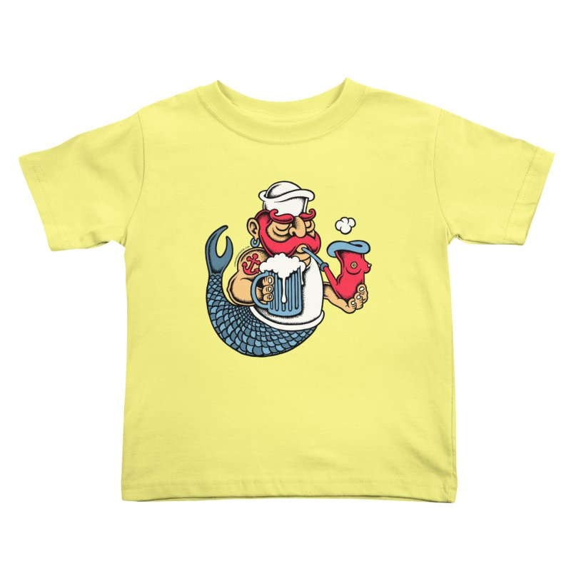 Sailor Mermaid II Kids Toddler T-Shirt by cphposter's Artist Shop