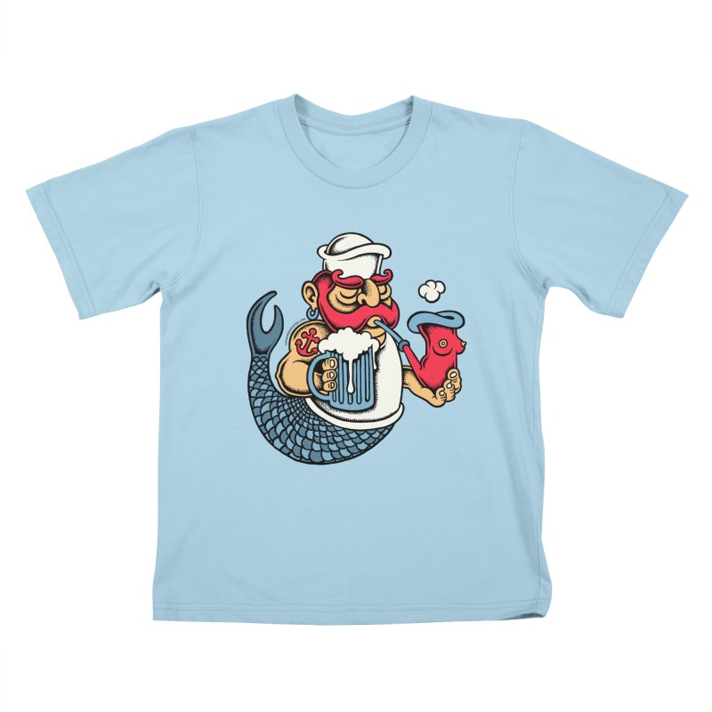 Sailor Mermaid II Kids T-shirt by cphposter's Artist Shop
