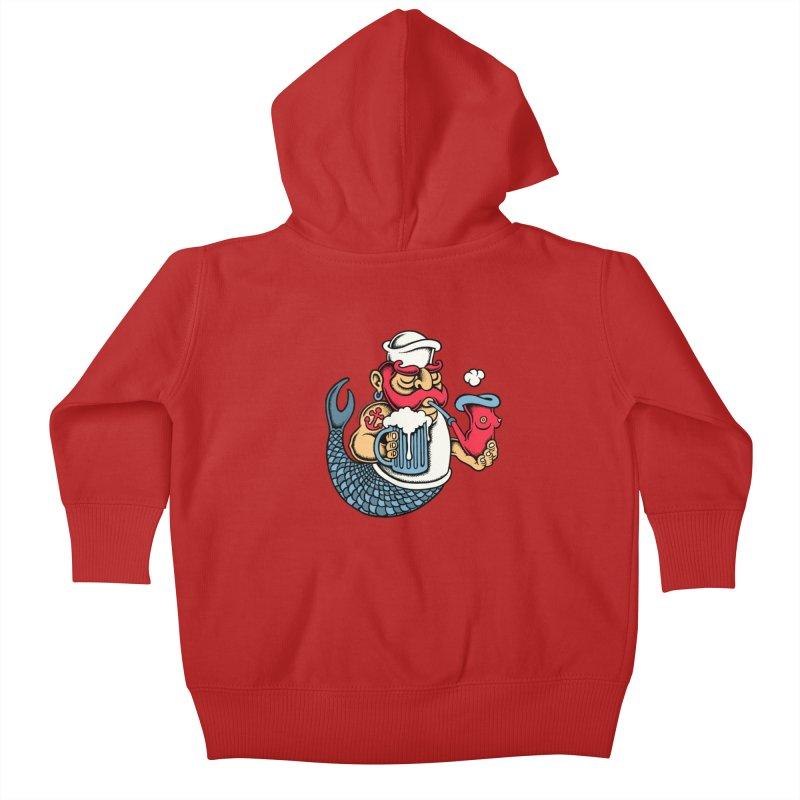 Sailor Mermaid II Kids Baby Zip-Up Hoody by cphposter's Artist Shop