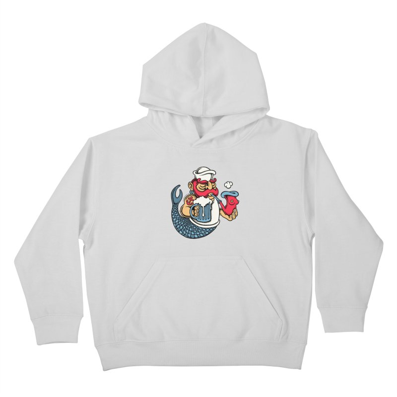 Sailor Mermaid II Kids Pullover Hoody by cphposter's Artist Shop