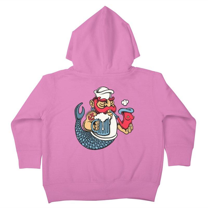 Sailor Mermaid II Kids Toddler Zip-Up Hoody by cphposter's Artist Shop