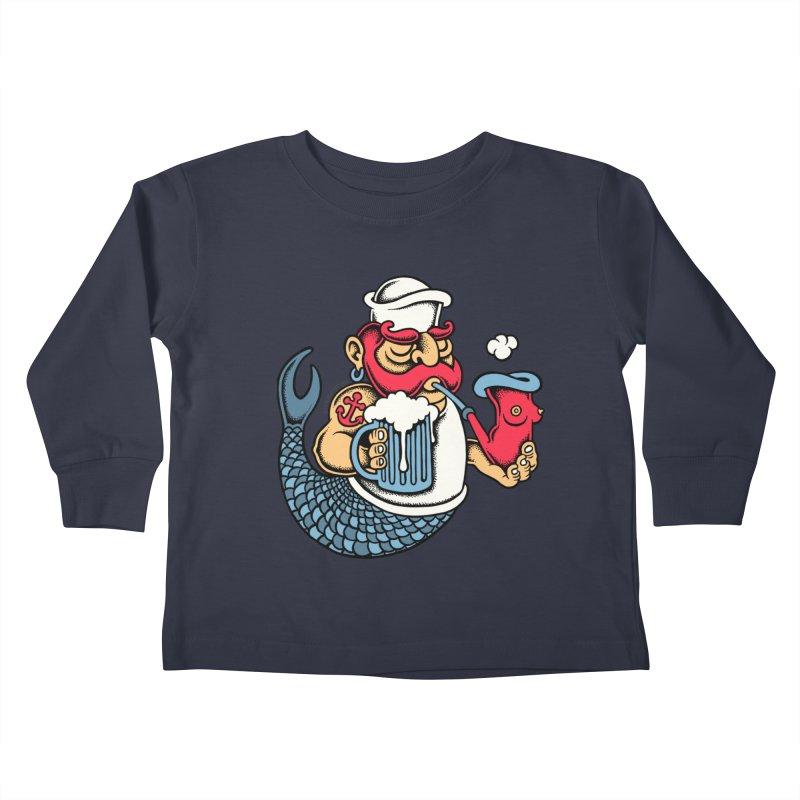 Sailor Mermaid II Kids Toddler Longsleeve T-Shirt by cphposter's Artist Shop