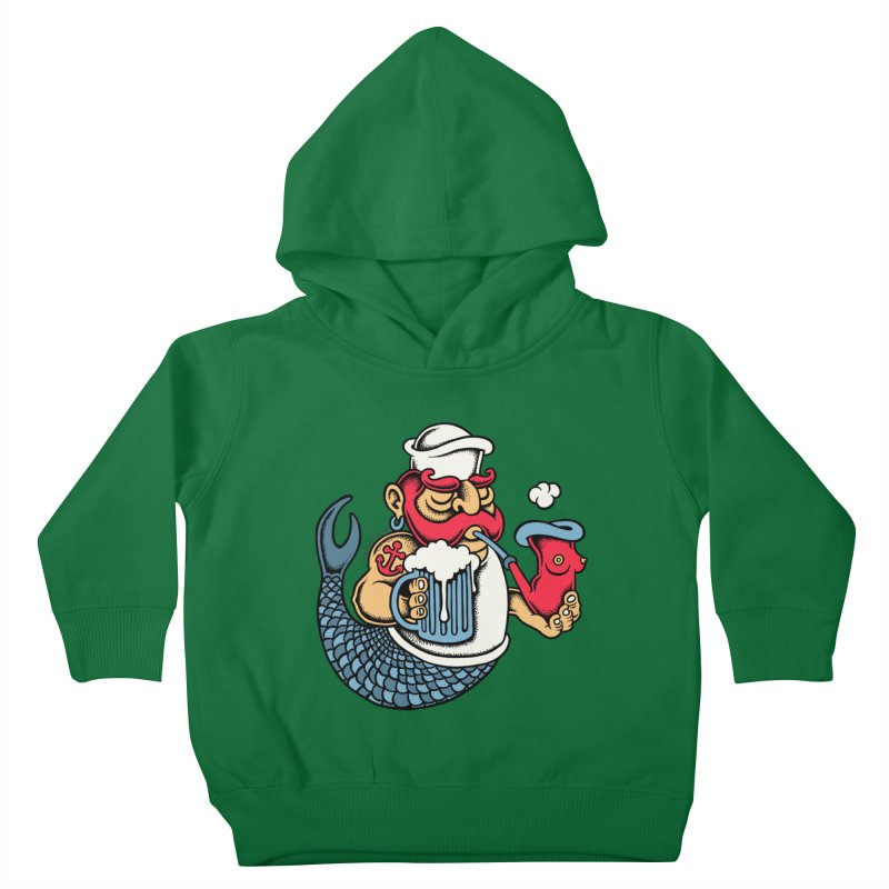 Sailor Mermaid II Kids Toddler Pullover Hoody by cphposter's Artist Shop