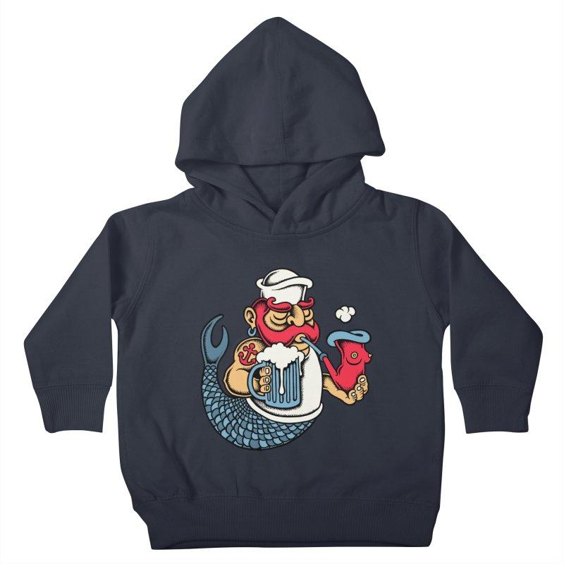 Sailor Mermaid II Kids Toddler Pullover Hoody by cphposter's Artist Shop