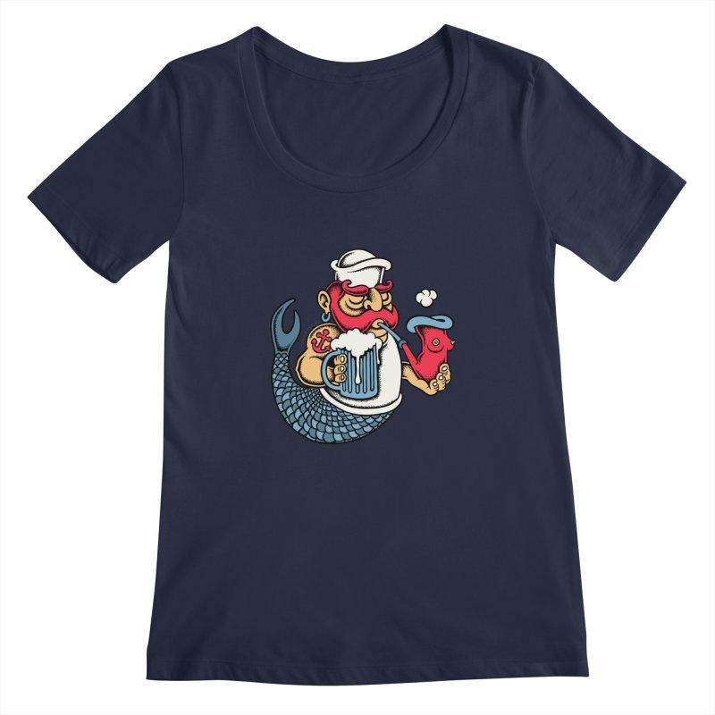 Sailor Mermaid II Women's Scoopneck by cphposter's Artist Shop