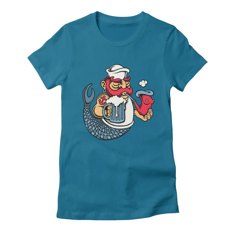 Sailor Mermaid II Women's Fitted T-Shirt by cphposter's Artist Shop