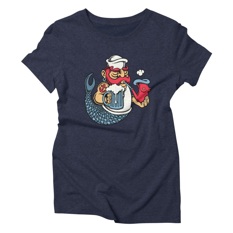 Sailor Mermaid II Women's Triblend T-shirt by cphposter's Artist Shop