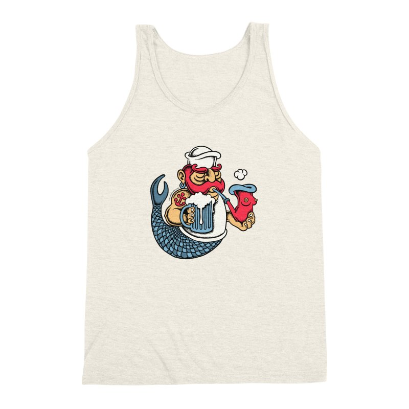 Sailor Mermaid II Men's Triblend Tank by cphposter's Artist Shop