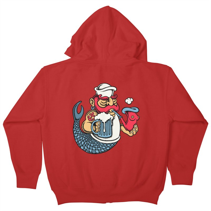 Sailor Mermaid II Kids Zip-Up Hoody by cphposter's Artist Shop