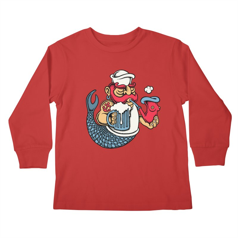 Sailor Mermaid II Kids Longsleeve T-Shirt by cphposter's Artist Shop