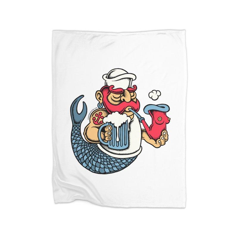 Sailor Mermaid II Home Blanket by cphposter's Artist Shop