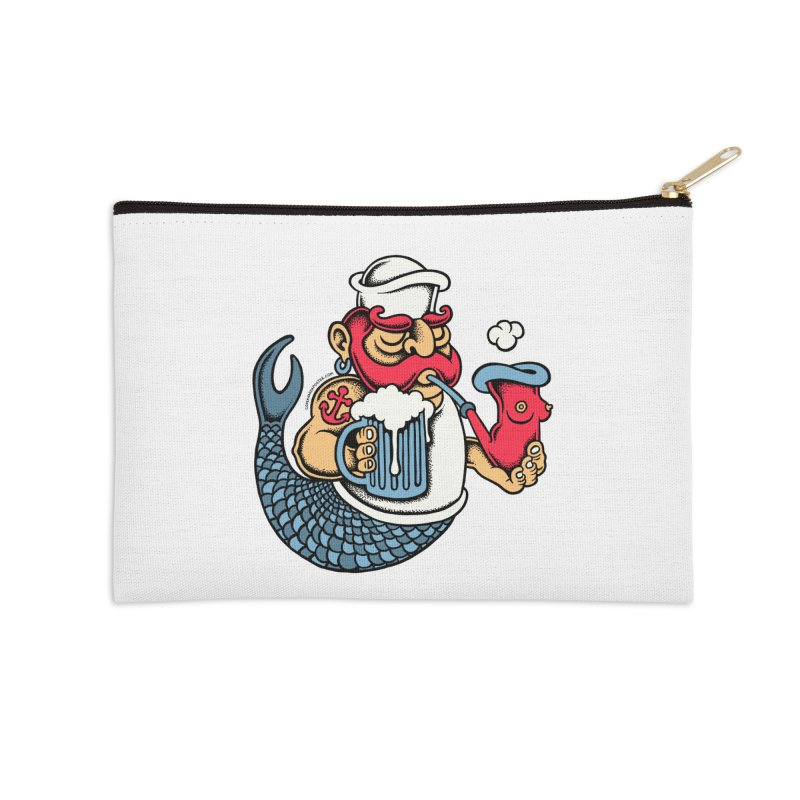 Sailor Mermaid II Accessories Zip Pouch by cphposter's Artist Shop