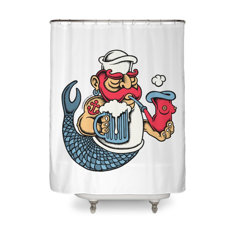 Sailor Mermaid II Home Shower Curtain by cphposter's Artist Shop