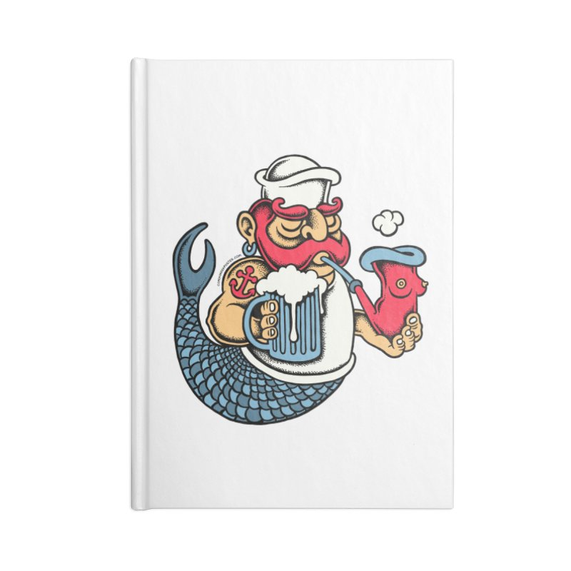 Sailor Mermaid II Accessories Notebook by cphposter's Artist Shop