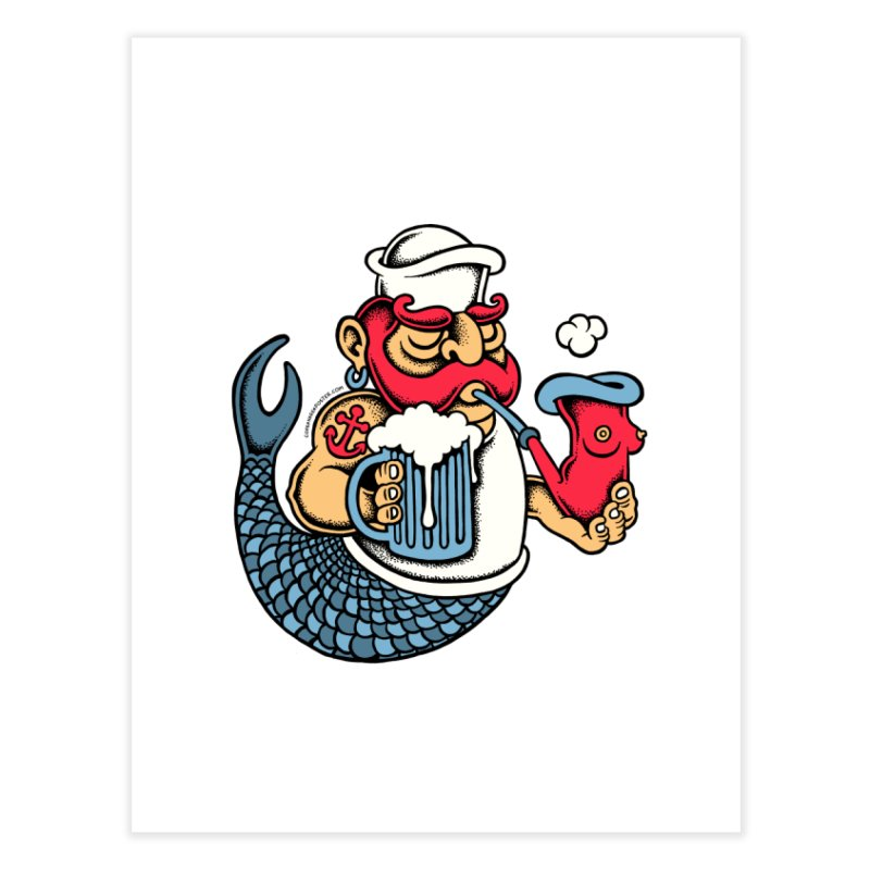Sailor Mermaid II Home Fine Art Print by cphposter's Artist Shop