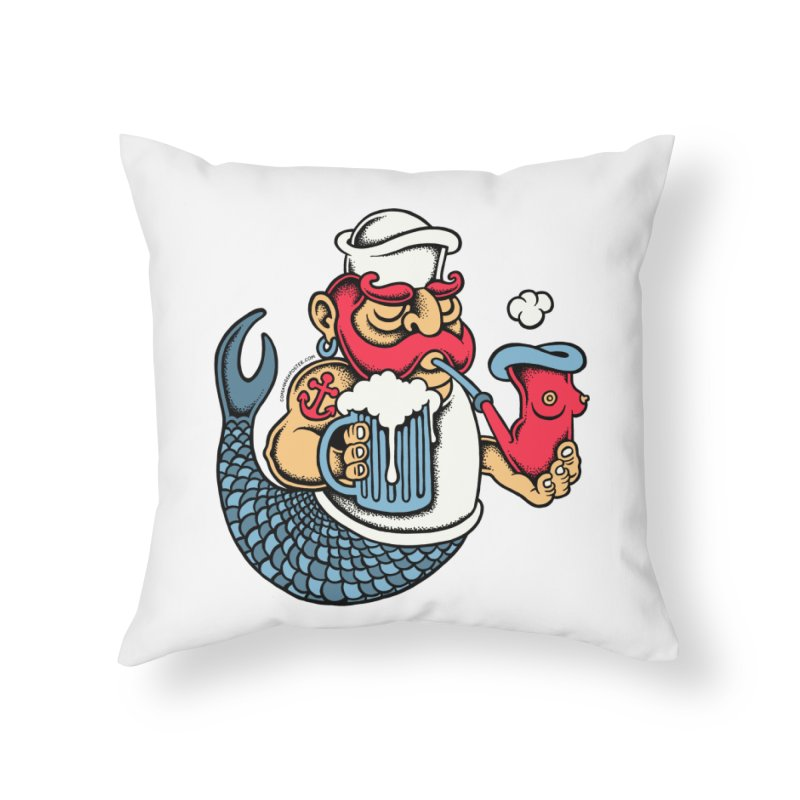 Sailor Mermaid II Home Throw Pillow by cphposter's Artist Shop